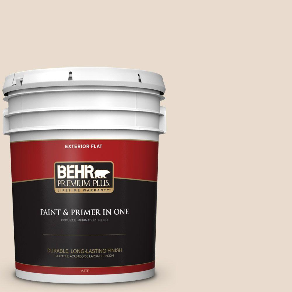 5 gal. #OR-W11 White Mocha Flat Exterior Paint and Primer in