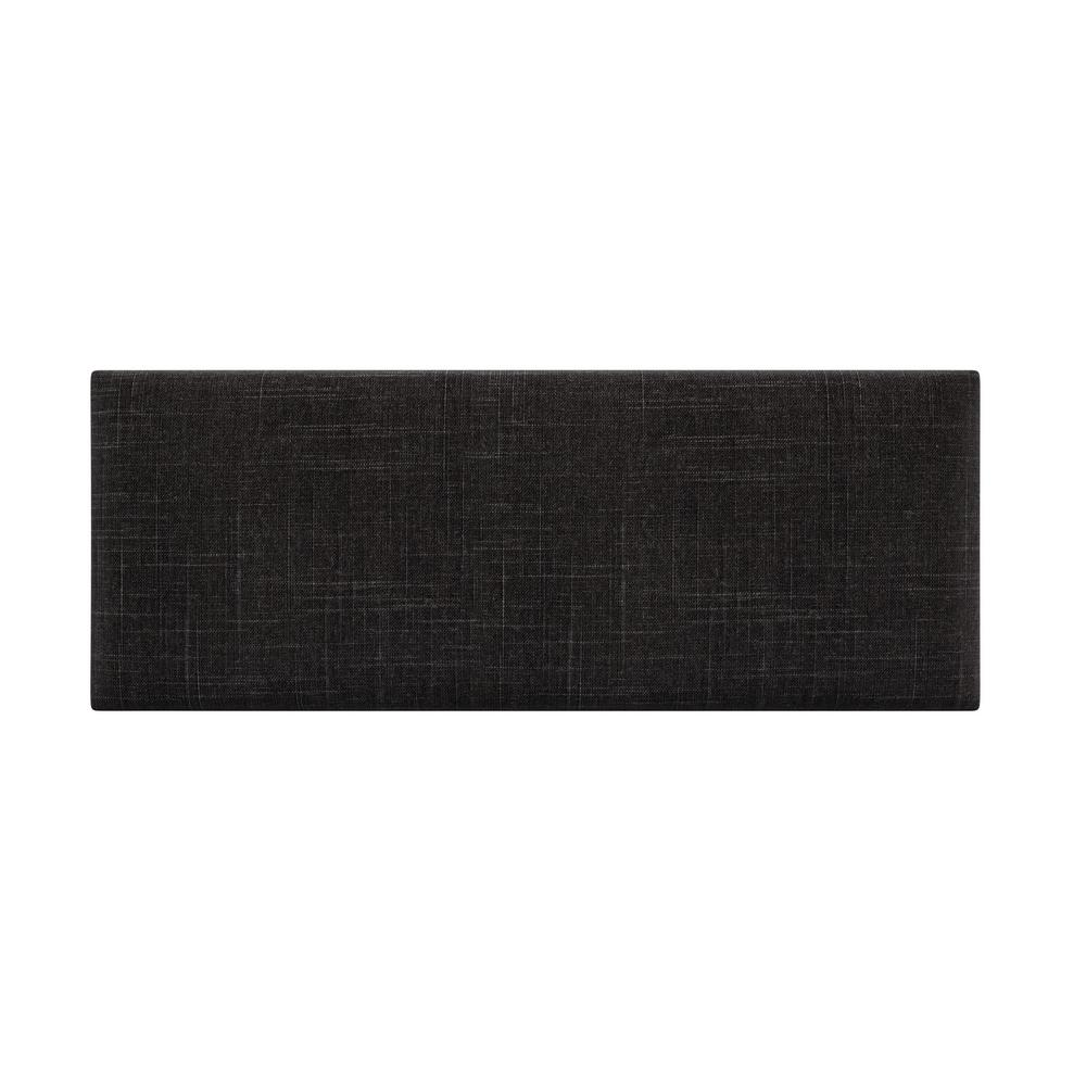 Cotton Weave Black Denim Queen-Full Upholstered Headboards/Accent Wall Panels