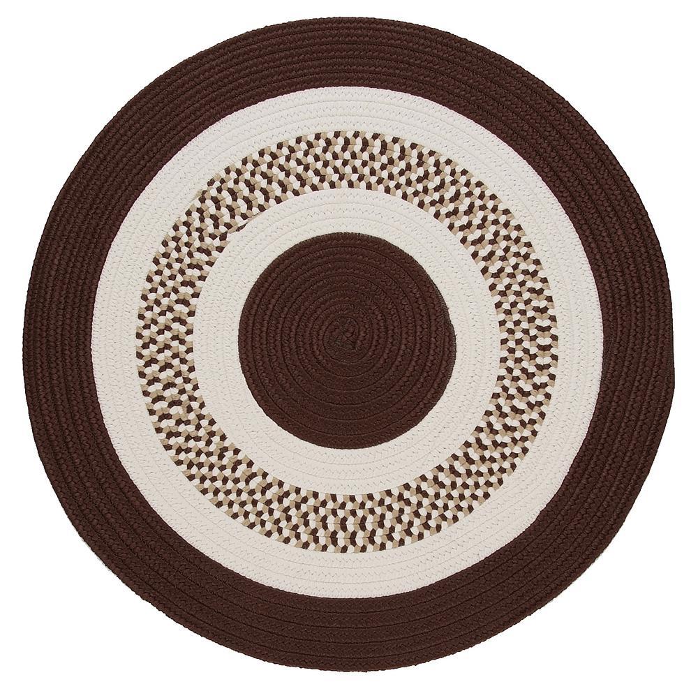 Spiral II Brown 10 ft. x 10 ft. Indoor/Outdoor Round Area Rug