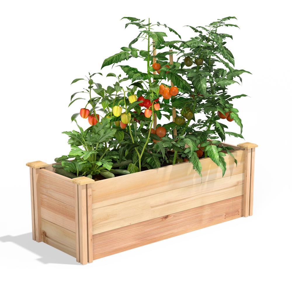 16 in. x 4 ft. x 16.5 in. Premium Cedar Raised Garden Bed