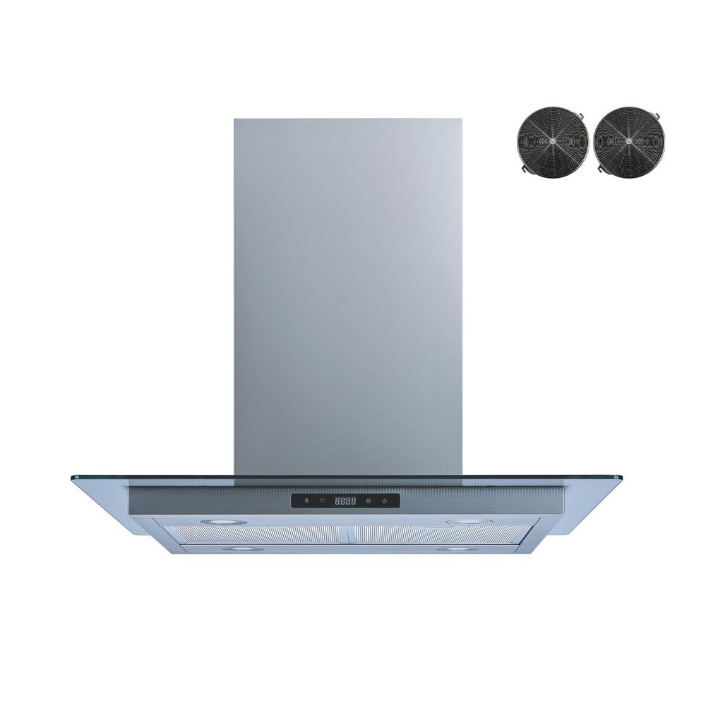 Winflo 36 in. Convertible Island Mount Range Hood in Stainless Steel ...