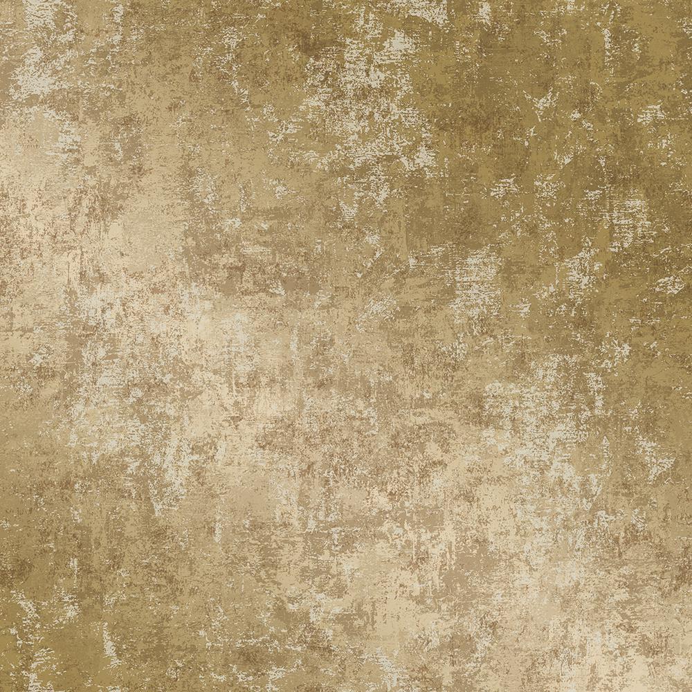 Tempaper Distressed Gold Leaf Self-Adhesive Removable Wallpaper DI10543