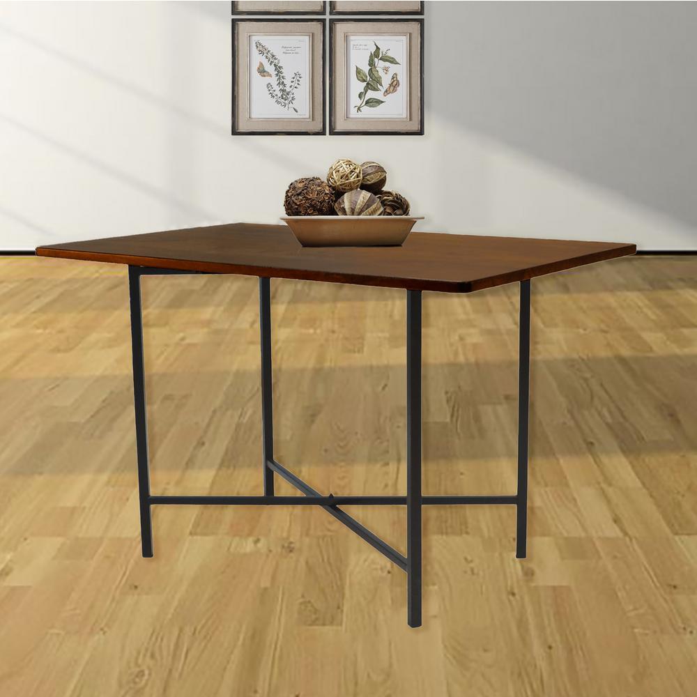 Carolina cottage berkshire chestnut brown dining table