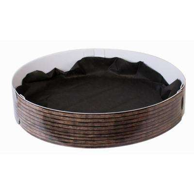 33 in. Dia Corrugated Plastic Antique Wood Grow Rings