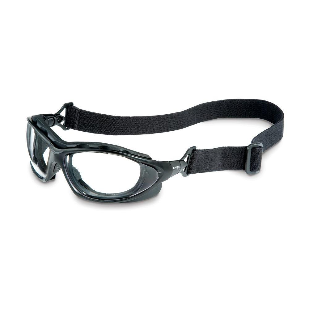 Uvex Seismic Sealed Eyewear Safety Glasses with Clear Tint AF Lens and Black Frame
