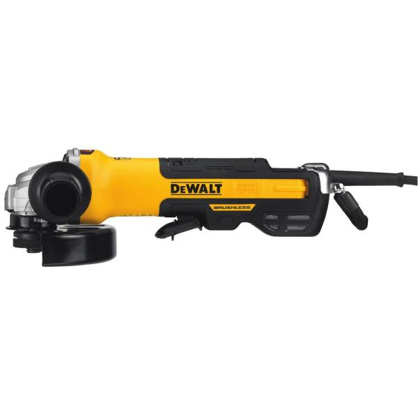 13 Amp Corded 5 in. to 6 in. Brushless Angle Grinder with Paddle Switch