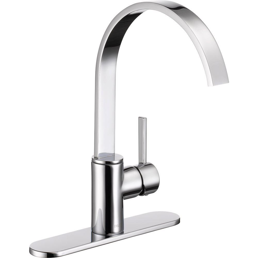 Delta Mandolin Single-Handle Standard Kitchen Faucet in Chrome