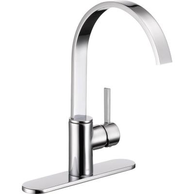 Mandolin Single-Handle Standard Kitchen Faucet in Chrome