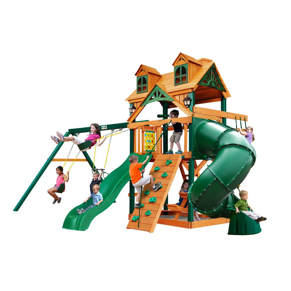 Ironkids challenge 300 refreshing mist swing set with rope for Gorilla playsets