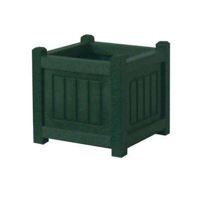 Nantucket 12 in. x 12 in. Green Recycled Plastic Commercial Grade Planter Box