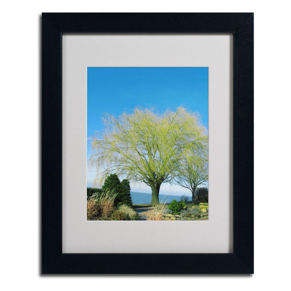 Trademark Fine Art 11 in. x 14 in. Wind in The Willow Matted Framed Art