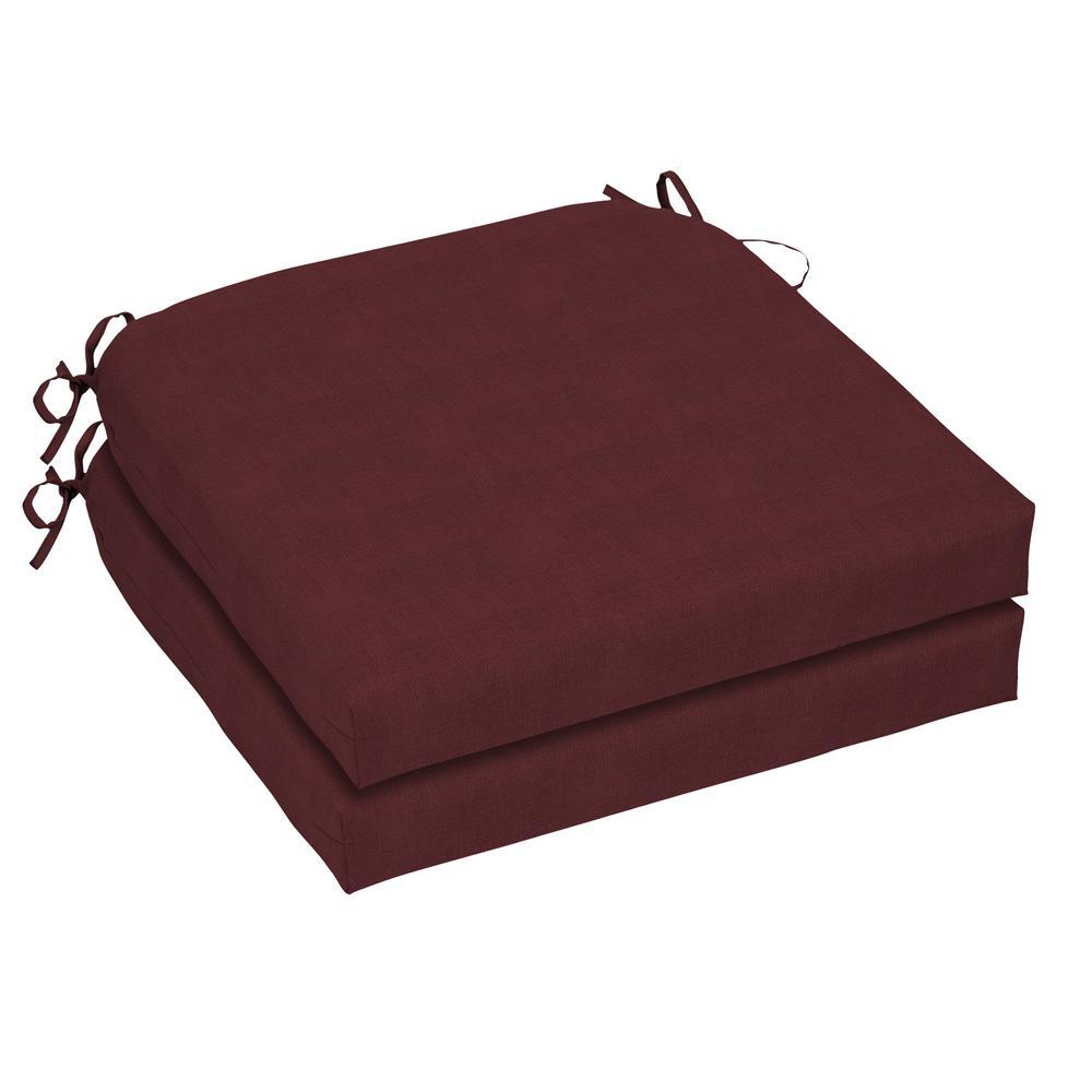 21 x 21 CushionGuard Aubergine Oudoor Chair Cushion (2-Pack)