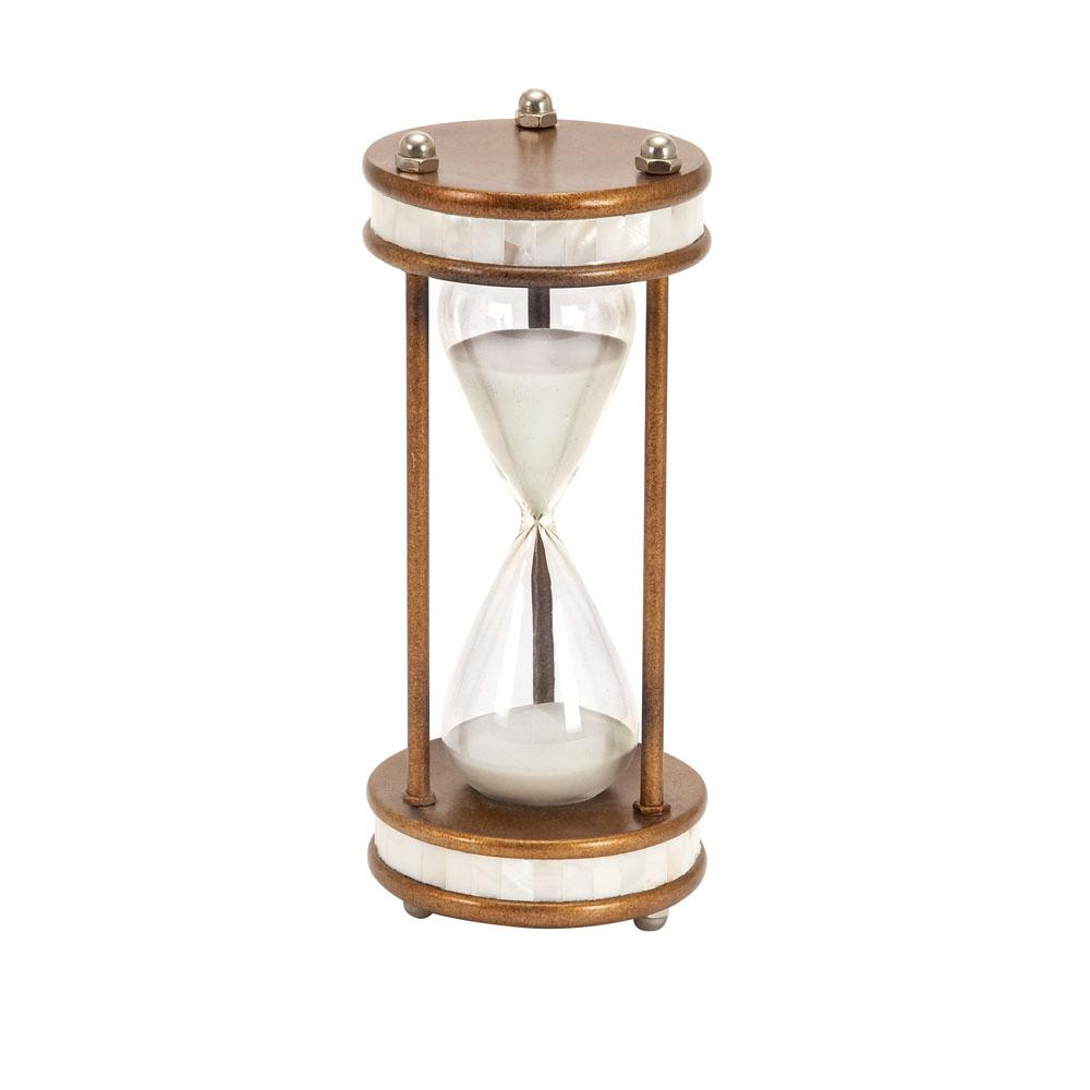 Gold Iron and Clear Glass 60-Minute Sand Timer