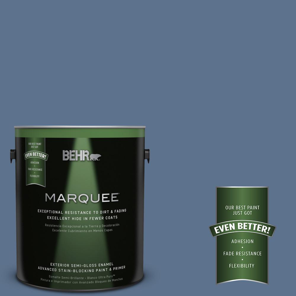 BEHR MARQUEE 1-gal. #PPU14-1 Arrowhead Lake Semi-Gloss Enamel Exterior Paint