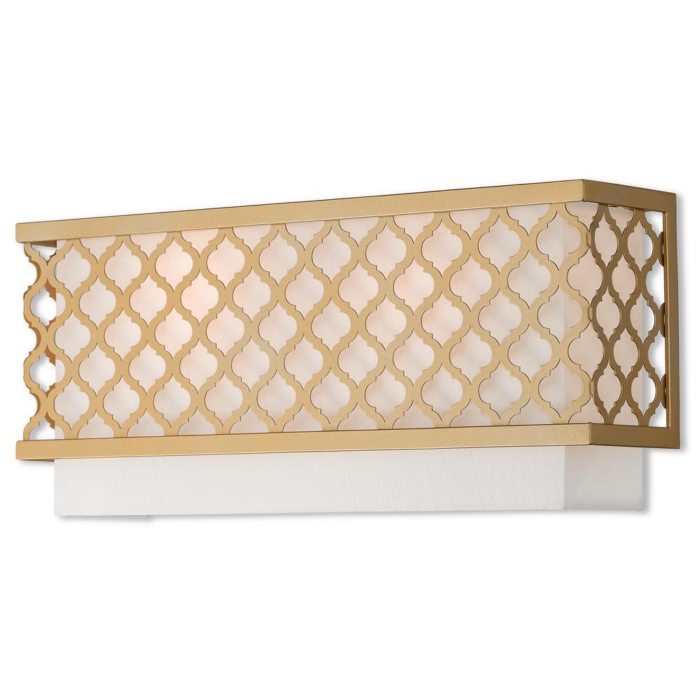 Arabesque 2-Light Soft Gold ADA Wall Sconce