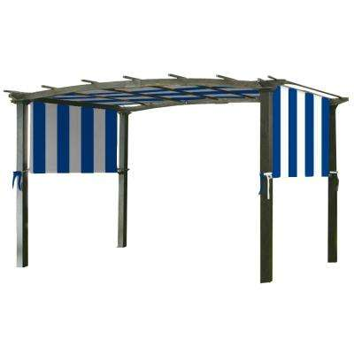 Universal Replacement Canopy Top Cover in Cabana Blue for Metal Pergola Frame