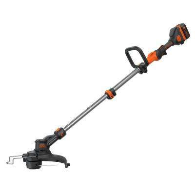 13 in. 40-Volt MAX Lithium-Ion Cordless Brushless String Grass Trimmer/Edger with 1.5Ah Battery and Charger Included