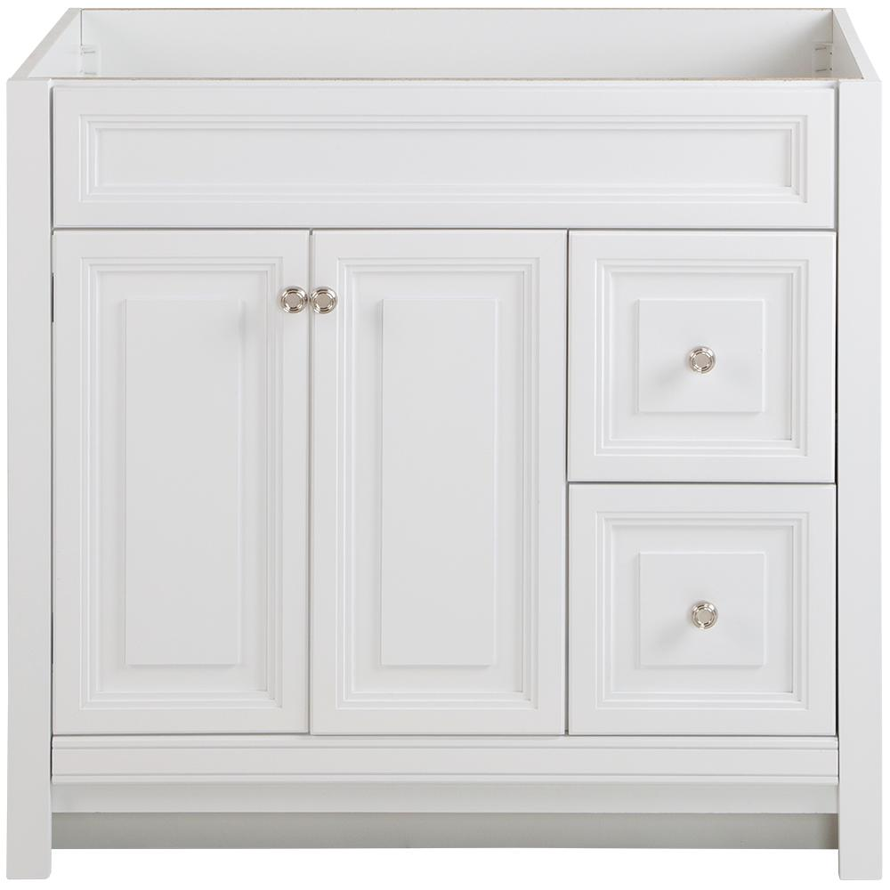 Home Decorators Collection Brinkhill 36 in. W x 21.65 in. D x 34.25 in. H Vanity Cabinet Only in White
