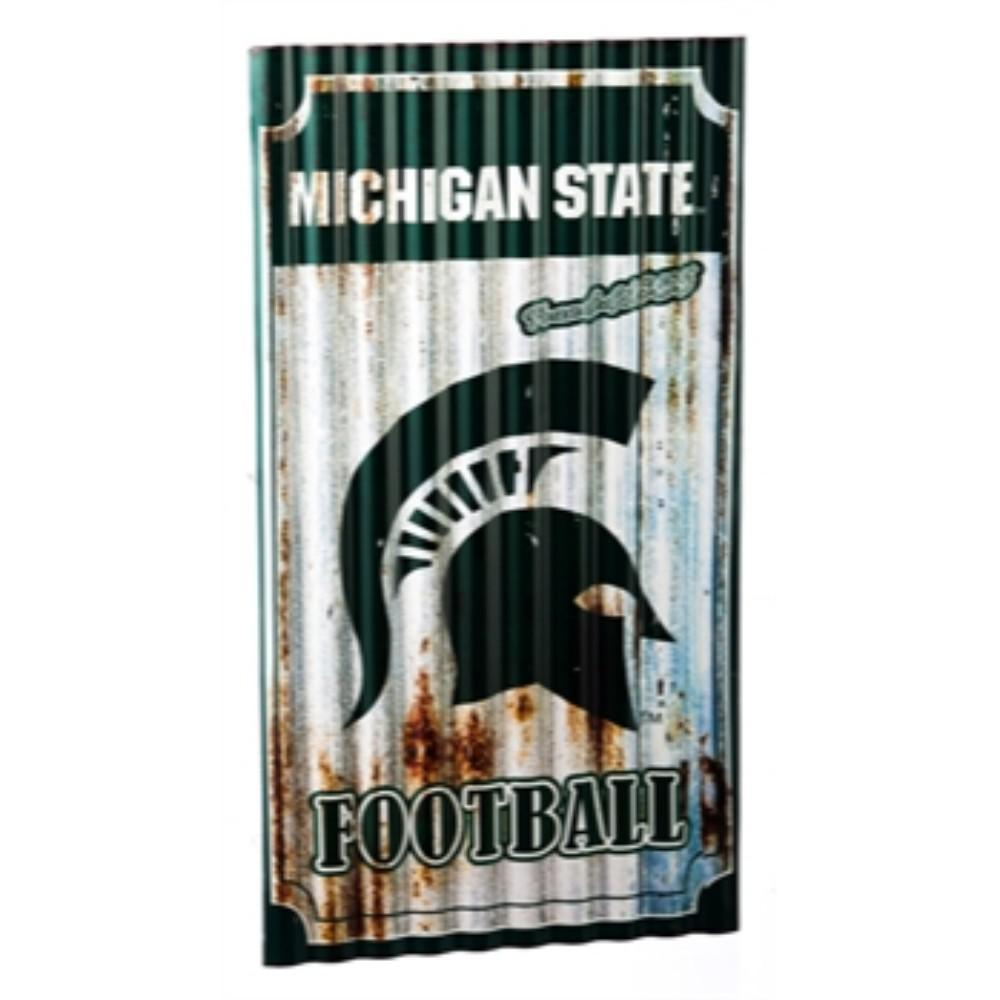 Team Sports America Michigan Wolverines Corrugated Metal Wall Art
