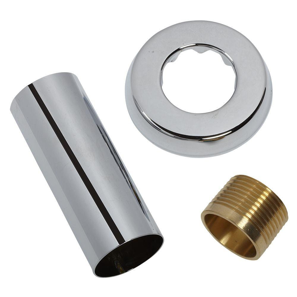 1 in. Inlet Pipe Assembly, Polished Chrome