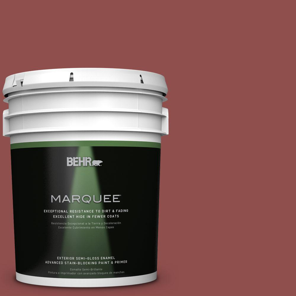 5-gal. #S140-6 Moroccan Ruby Semi-Gloss Enamel Exterior Paint