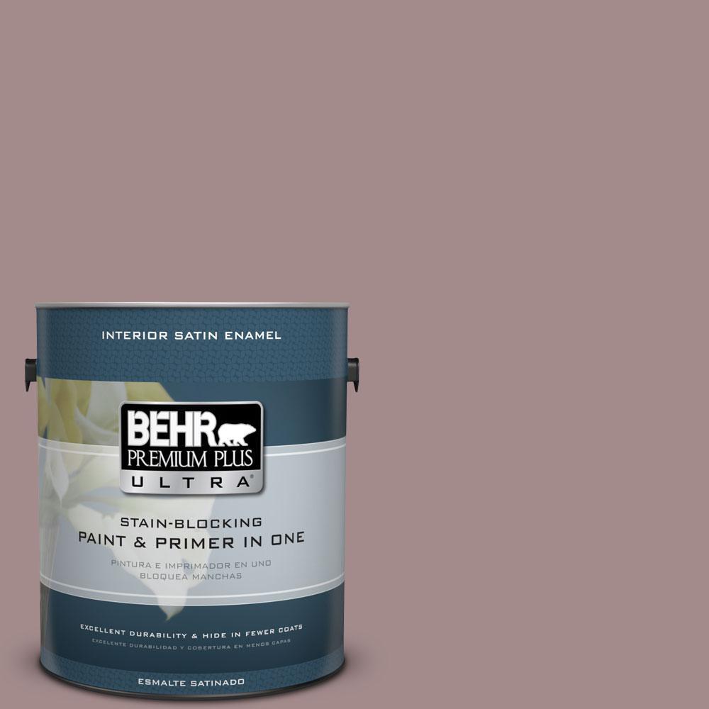 BEHR Premium Plus Ultra 1-Gal. #PPU17-15 Cameo Rose Satin Enamel Interior Paint