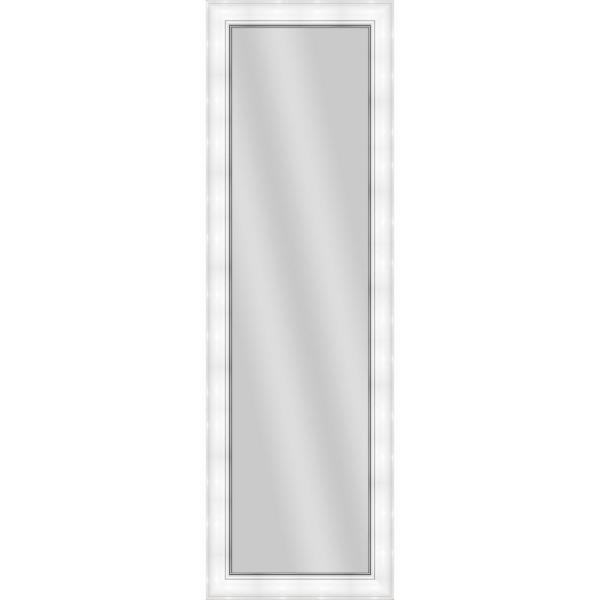 Large Rectangle White Art Deco Mirror (52.25 in. H x 16.25 in. W)