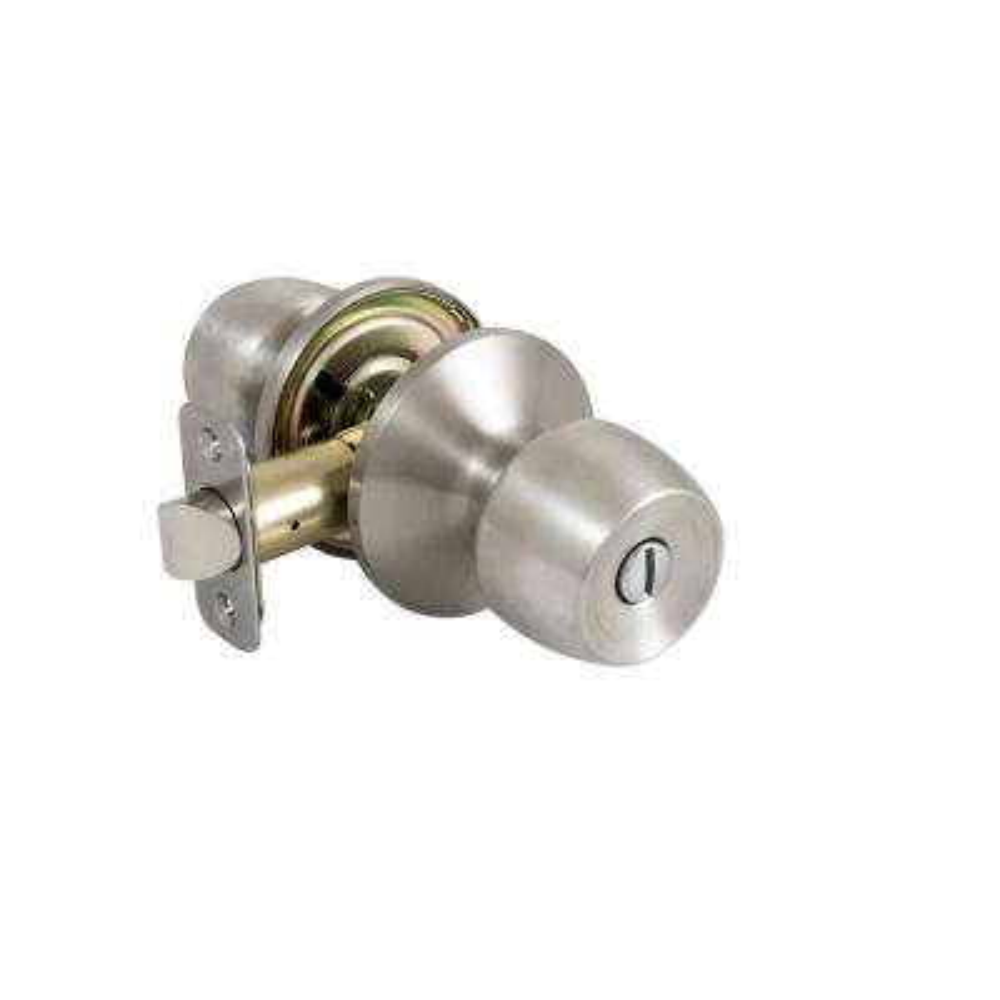 Brandywine Stainless Steel Privacy Keyed Door Knob Contractor Pack (6-piece)