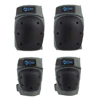 Pro Battleship Large/X-Large Knee and Elbow Pad Set
