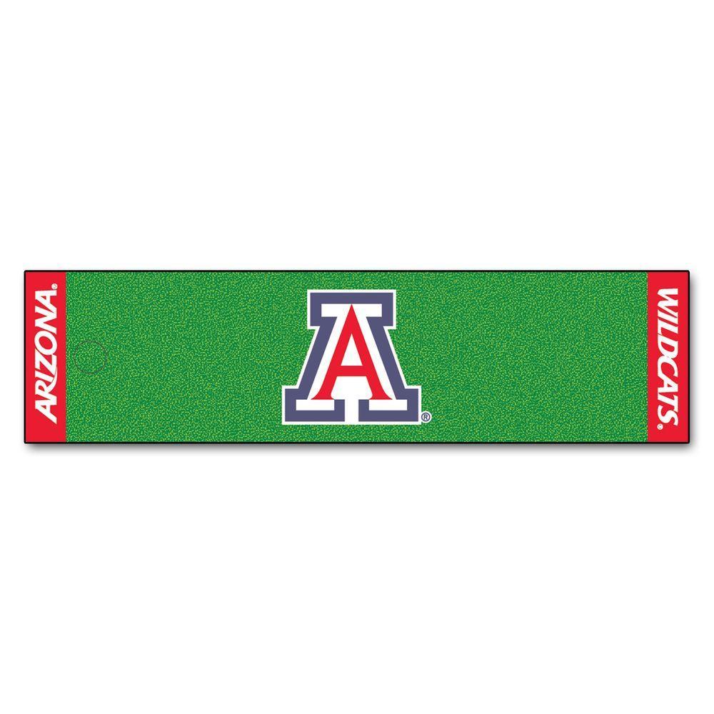 NCAA University of Arizona 1 ft. 6 in. x 6 ft. Indoor 1-Hole Golf Practice Putting Green