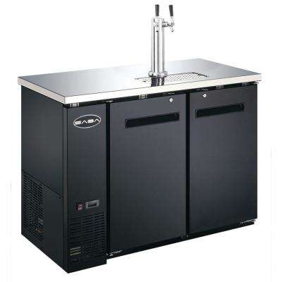 Two 1/2 Barrel Beer Keg Dispenser Refrigerator Cooler with Double Tap Tower