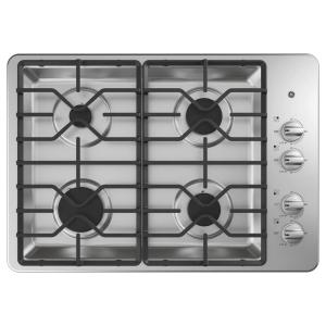30 in. Gas Cooktop in Stainless Steel with 4-Burners Including Power Burners