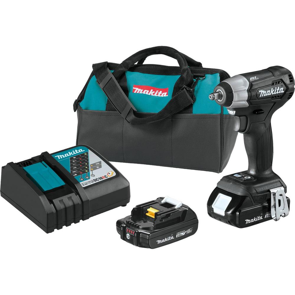 Makita 18-Volt LXT Lithium-Ion Sub-Compact Brushless Cordless 3/8 in   Square Drive Impact Wrench Kit