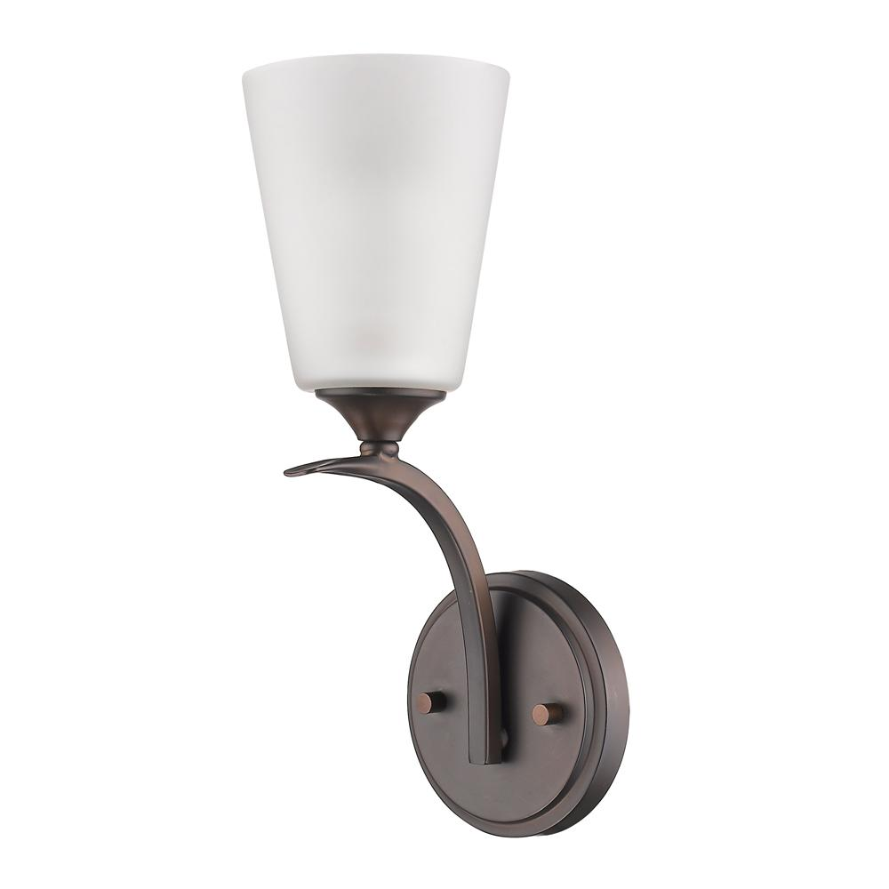 Acclaim Lighting Zoey 1-Light Oil-Rubbed Bronze Sconce with Frosted Glass Shade