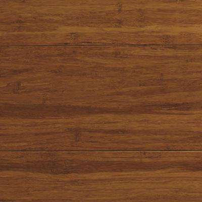 Strand Woven Antiqued Harvest 3/8 in. T x 5-1/8 in. W x 72 in. L Engineered Click Bamboo Flooring