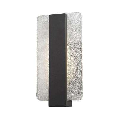 Pierre Textured Matte Black Outdoor LED Wall Sconce