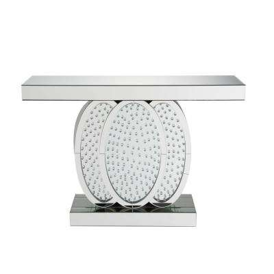 Nysa Mirrored and Faux Crystals Console Table