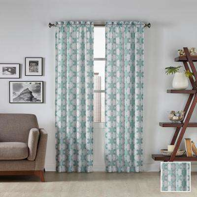 Kesey 95 in. L Polyester Rod Pocket Drapery Panel Pair in Mist