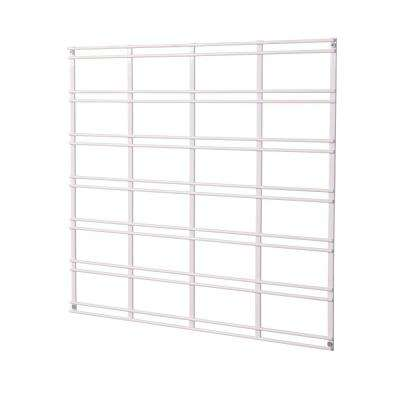19 in. x 21 in. White Steel Multi-Purpose Grid Bracket for Wire Shelving