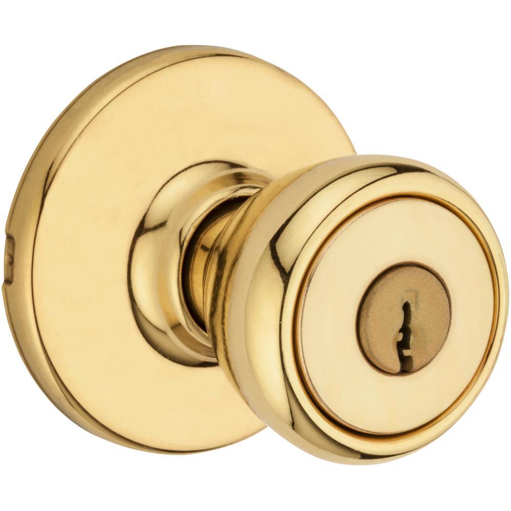 Tylo Polished Brass Keyed Entry Door Knob