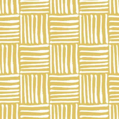 Nomad Collection Hatch in Dusty Yellow Premium Matte Wallpaper