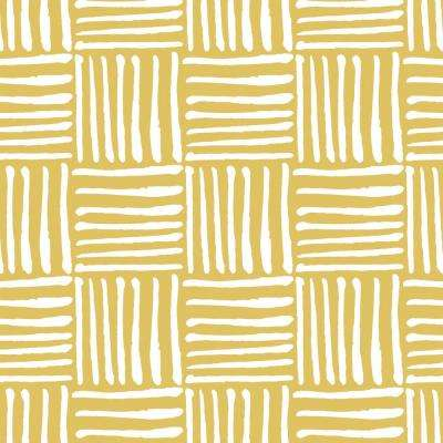 Mitchell Black Peel Stick Yellow Wallpaper Home Decor