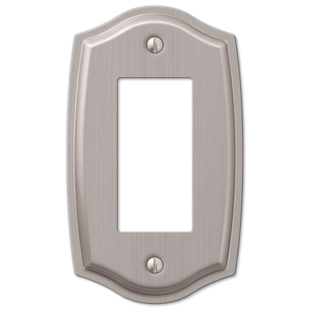Hampton Bay Vineyard 1 Decora Wall Plate Brushed Nickel Steel
