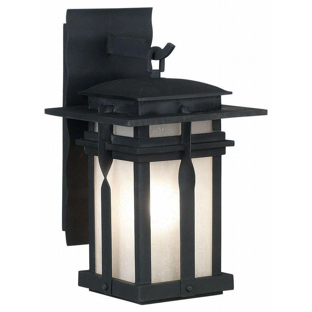 Kenroy Home Carrington 21 in. 1-Light Black Large Lantern