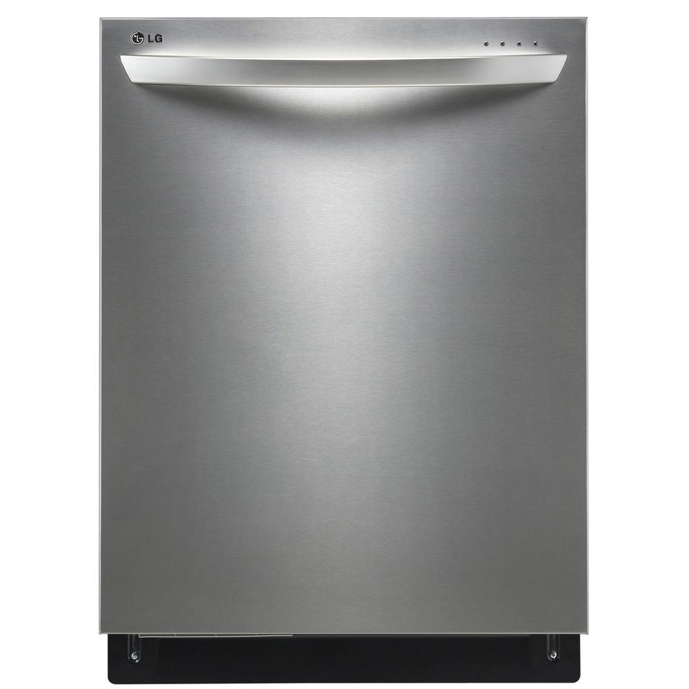 LG Electronics Top Control Dishwasher with 3rd Rack and Steam in Stainless Steel with Stainless Steel Tub