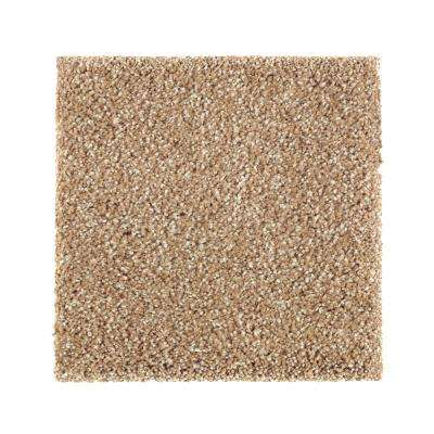 Carpet Sample - Whirlwind II - Color Bread Basket Texture 8 in. x 8 in.