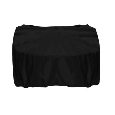 44 in. Square Polyester Fire Pit Cover in Black