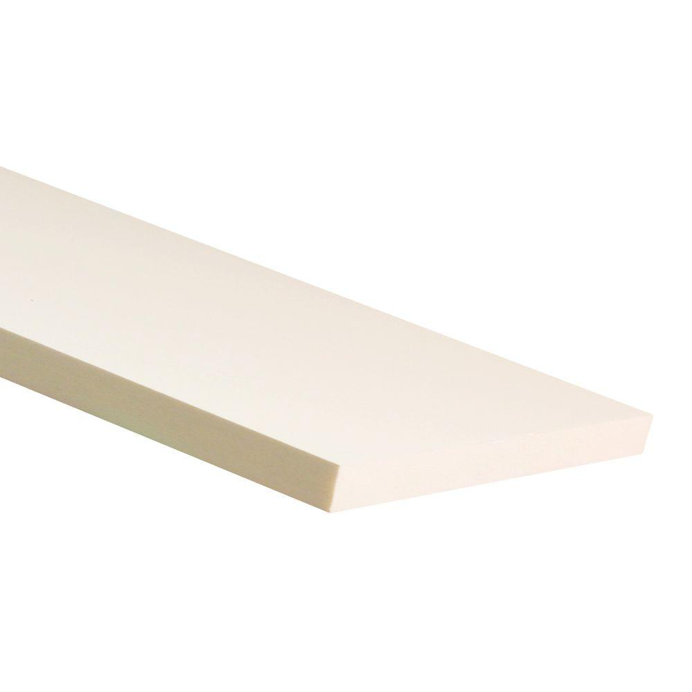 3/4 in. x 2-1/2 in. x 8 ft. White PVC Trim