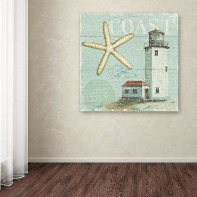 """35 in. x 35 in. """"Beach House II"""" by Lisa Audit Printed Canvas Wall Art"""