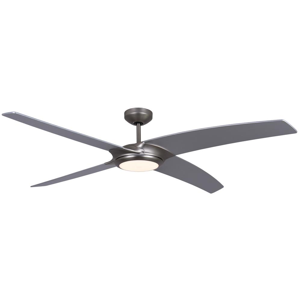 TroposAir Starfire 56 in Brushed Aluminum Ceiling Fan with LED